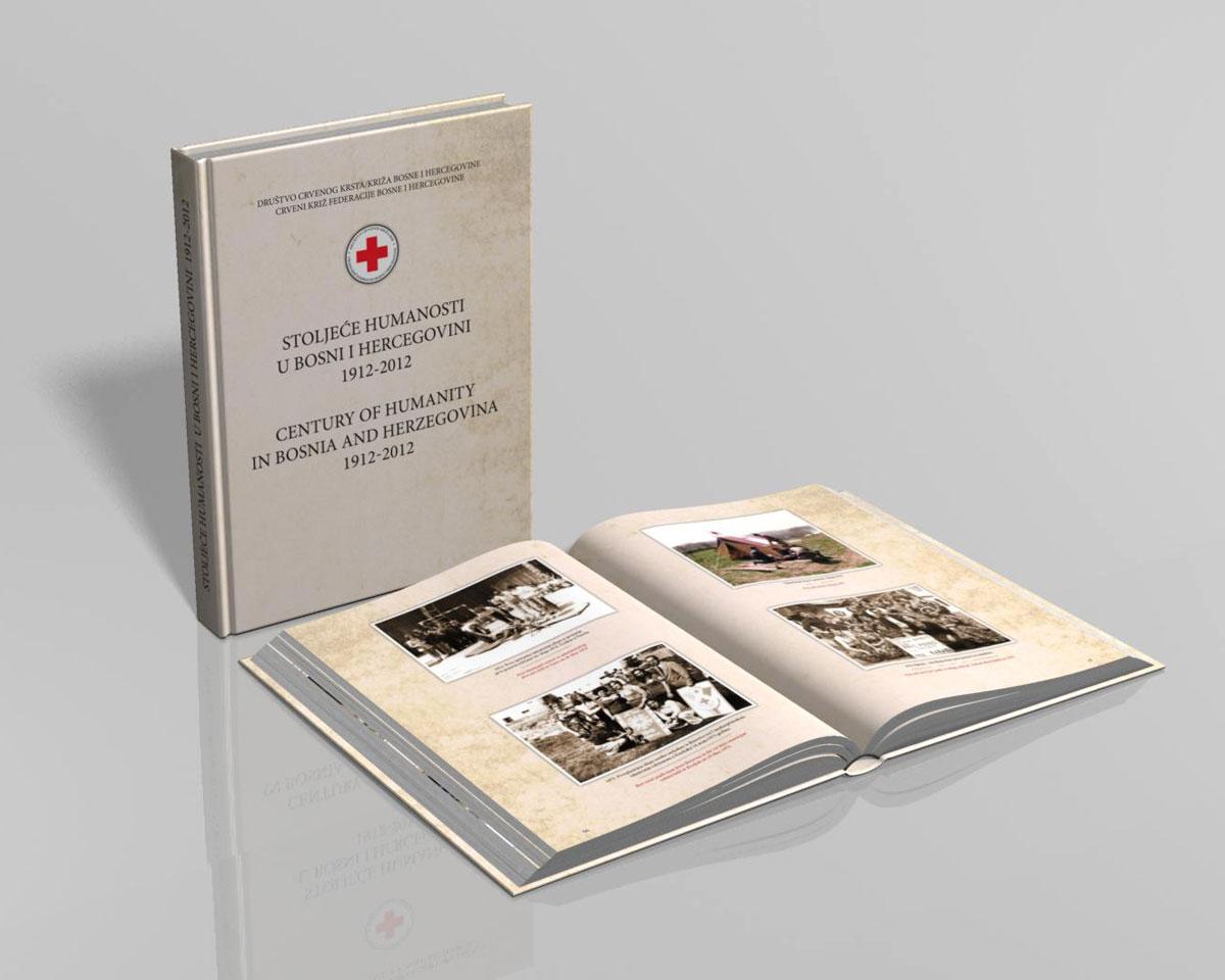 Diizajn i štampa monografije. Knjiga tvrdi povez. Crveni krst/križ Federacije Bosne i Hercegovine