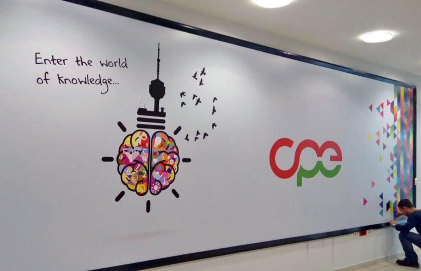 Zidne dekoracije poslovnih prostorija Centar za poslovnu edukaciju